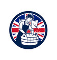 british laundry union jack flag icon vector image vector image