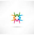 business icon handshake vector image vector image