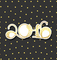 Card 2016 years in gold with shadow over gray vector image vector image