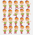 cartoon character boy in jeans set with different vector image