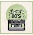 Cassette icon Retro and Music design vector image vector image