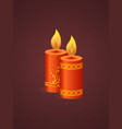 chinese traditional happy new year with realistic vector image vector image