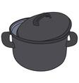 Classic black pot vector image vector image