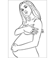 contours of the pregnant woman vector image vector image