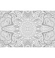 detailed coloring book art with monochrome pattern vector image