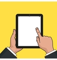 Digital tablet in businessman hands Hands using vector image vector image