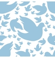 dove seamless pattern vector image vector image