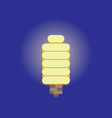 energy saving light bulb flat design vector image