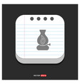 flame fire icon gray icon on notepad style vector image