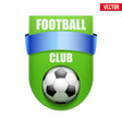 football badge and label vector image