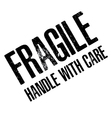 Fragile with Handle with care isolated on white vector image