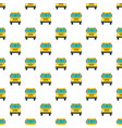 front of school bus pattern seamless vector image vector image