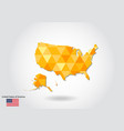 geometric polygonal style map of united states vector image vector image