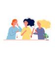 girlfriends women meeting in cafe or restaurant vector image