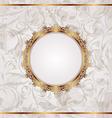 Golden retro frame seamless floral texture vector image vector image