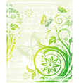 grunge green floral background vector image vector image