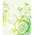 grunge green floral background vector image