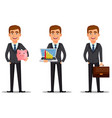 handsome banker in business suit vector image vector image