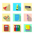 isolated object of office and supply sign set of vector image