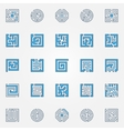Labyrinth colorful icons vector image vector image