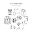 Manager Morning Hand Drawn Concept vector image vector image