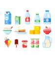 milk products healthy diet yogurt ice cream vector image