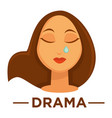 movie genre drama cinema icon of woman vector image vector image