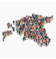 people map country Estonia vector image vector image