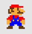 pixel mario vector image