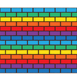 rainbow bricks pattern vector image