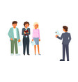 recruitment process flat style design icon vector image