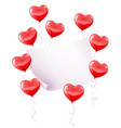 red balloons with paper banner vector image vector image