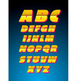 Retro style alphabet font vector image vector image