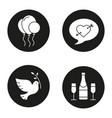 romantic holidays icons set vector image