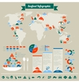 Seafood infographic vector image vector image