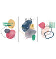 set creative minimalist hand painted abstract vector image