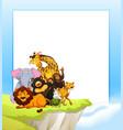 set of different animal invitation vector image