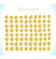 Set of gold splashes isolated on background vector image vector image