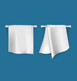 set of kitchen towels vector image vector image