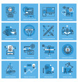 set thin line concept icons vector image vector image