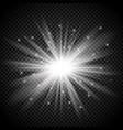 silver starburst on transparent background vector image vector image