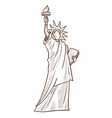 statue of liberty isolated sketch symbol vector image