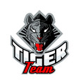 tiger face for team sport theme vector image