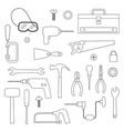 tools digital stamps vector image vector image