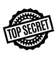 top secret rubber stamp vector image vector image