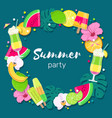 tropical party background vector image vector image