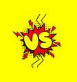 vs versus letter logo battle match game vector image vector image