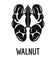 walnut icon simple style vector image