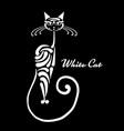 white cat design vector image vector image