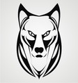 wild dog face tribal vector image vector image